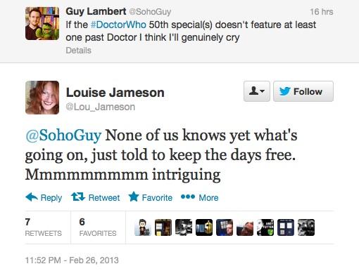 Скриншот твиттера Луизы Джеймсон