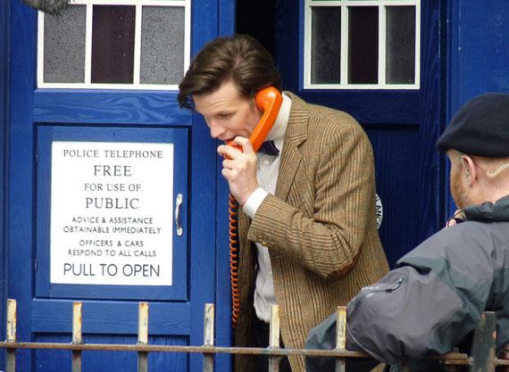 Съемки 7 сезона Доктора Кто: кому ты собираешься звонить?